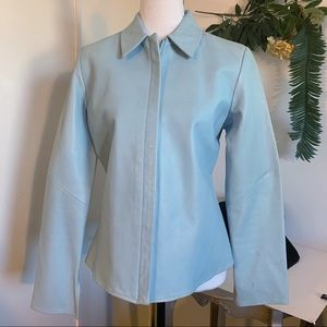 Banana Republic Spring Robins Egg Blue Leather! S